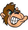 gorilla head logo mascot vector image vector image