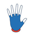 hand showing five finger waving gesture icon vector image vector image