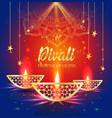happy diwali festival of lights retro oil gold vector image vector image