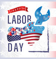 happy labor day wrench in hand vector image