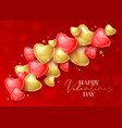 happy saint valentines day greeting card with 3d vector image vector image