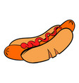 hotdog with mustard icon icon cartoon vector image vector image