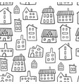 house seamless pattern outline fun colorful houses vector image vector image