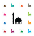 isolated mosque icon traditional element vector image vector image