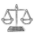 justice balance isolated icon vector image