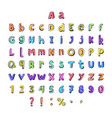 kids cartoon colorful full alphabet vector image vector image