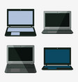 laptop notebook set vector image vector image
