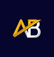 letter ab finance modern logo design vector image vector image