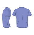 lilac t-shirt template in back and side views vector image