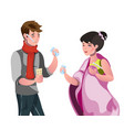 man and a woman are sick vector image