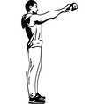 man with barbell doing squats in gym vector image vector image