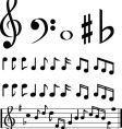 Music note selection vector | Price: 1 Credit (USD $1)