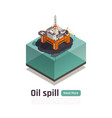 offshore oil pollution composition vector image vector image
