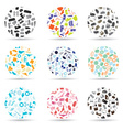 pattern circle set of various icons eps10 vector image vector image