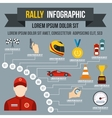 Rally infographic flat style vector image vector image