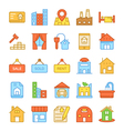 Real Estate Colored Icons 6 vector image