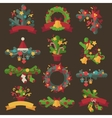 set christmas wreaths vector image vector image