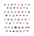 Set color icons of industry vector image vector image
