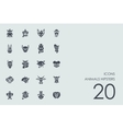 Set of animals hipsters icons vector image