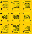 Set of motivational quotes about home moments love vector image