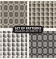set seamless knitted patterns graphics vector image vector image