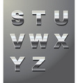 shiny metal letters vector image vector image