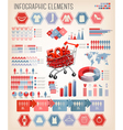 Shopping infographics vector image vector image