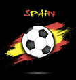 soccer ball and spain flag vector image