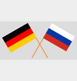 the crossed russia and germany flags vector image vector image