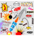 Vintage comic book sounds vector image vector image