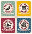 Vintage food posters collection vector image vector image