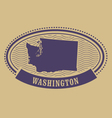 washington silhouette - oval stamp vector image vector image
