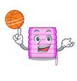 with basketball character wooden blinds with sun vector image