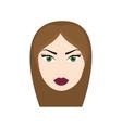 woman head girl female person hair icon vector image vector image