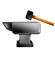 anvil and hammer vector image