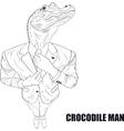 Cartoon character crocodile vector image