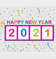 2021 happy new year abstract vector image vector image
