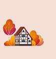 a beautiful half-timbered house vector image