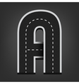 A letter Road font vector image vector image