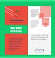apple company brochure title page design company vector image