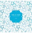 Baby boys frame seamless pattern background vector image vector image