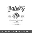 bakery label vector image vector image