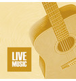 banner for live music with guitar vector image vector image