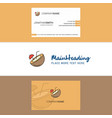 beautiful coconut logo and business card vertical vector image