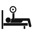 bench press icon simple style