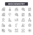 biochemistry line icons for web and mobile vector image vector image