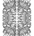 black and white psychedelic shamanic ornament vector image vector image