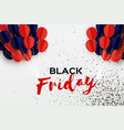 black friday sale banner balloons in paper cut vector image vector image