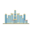buildings landscape urban view cartoon vector image vector image