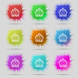 business team icon sign A set of nine original vector image vector image